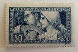 N°252 1 f. 50 + 8 f. 50 bleu, Caisse d'Amortissement