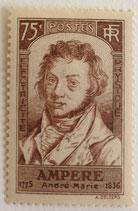 N°310 75 c. brun, André-Marie Ampère