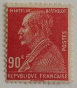 N°243 90 c. rouge, Centenaire de la naissance de Marcelin Berthelot