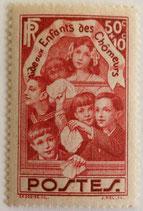 N°312 50 c. +10 c. rouge-brique, enfants des Chômeurs