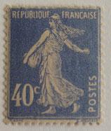N°237 40 c. outremer, type semeuse fond plein