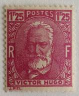 N°293  1 f. 25 lilas rose, Victor Hugo