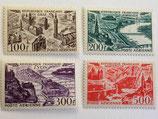 N°24/27 P.A. série complète, vues stylisées de grandes villes