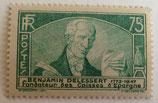 N°303 75 c. vert, Benjamin Delessert