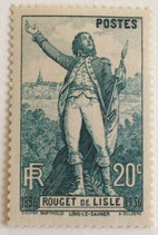 N°314 20 c. vert, Rouget de Lisle