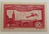 N°5 P.A. 1 f. 50 carmin, avion survolant Marseille