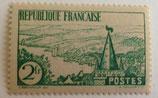 N°301  2 f. vert, rivière bretonne