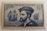 N°297  1 f. 50 bleu, Jacques Cartier
