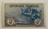 N°155 5 f. +5 f. noir et bleu, orphelins de la Guerre