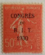 N°264  50 c. rouge, congrès du BIT 1930