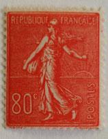 N°203 80 c. rouge, type semeuse