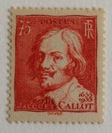 N°306  75 c. rouge-brique, Jacques Callot