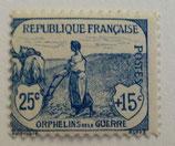 N°151 25 c.+15 c. bleu, orphelins de la Guerre
