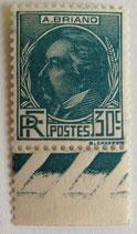 N°291  30 c. bleu vert, Aristide Briand