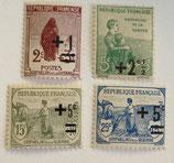 N°162/165 4 valeurs, orphelins de la Guerre