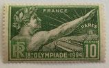 N°183 10 c. vert-jaune et vert-gris, Jeux olympiques de Paris 1924