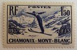 N°334 1 f. 50 bleu-violet, Chamonix Mont-Blanc
