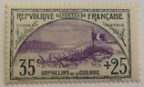 N°152 35 c.+25 c. ardoise et violet, orphelins de la Guerre