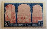 N°263  50 c. bleu et rose, centenaire de l'Algérie