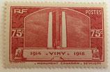 N°316 75 c. rouge-brun, Vimy