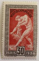 N°185 30 c. noir et rouge-brun, Jeux olympiques de Paris 1924