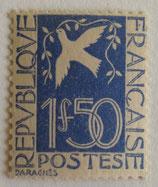 N°294  1 f. 50 outremer, Colombe de la paix
