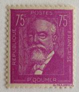 N°292  75 c. lilas, Paul Doumer
