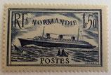 N°299  1 f. 50 bleu, paquebot Le Normandie