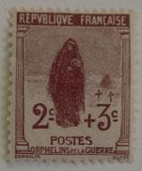 N°148 2 c.+3 c. brun-lilas, orphelins de la Guerre