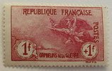 N°154 1 f. +1 f. carmin, orphelins de la Guerre