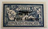 N°2 P.A. 5 f. bleu et chamois, type merson