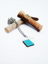 "Polygonkette aus Holz ""Teal Polygon"""