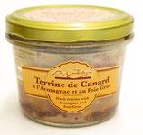 Terrine de canard à l'armagnac et au foie-gras 180g