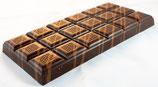 Tablettes de chocolat noir 63% praliné amandes noisettes 100g