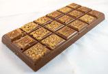 Tablettes de chocolat lait 35% caramel coulant 100g