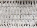 Banquette-Footstool-Handmade-Bois de laurier-Coton tissé blanc
