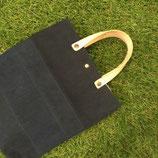 黒帆布 カフェトート