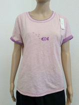 T-Shirt Fisch lila