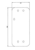 Platte für Montage auf FH-Türen