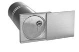 Großer Schlüsseltresor mit Abdeckung aus Edelstahl, eckig