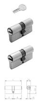Wendeschlüssel-Profilzylinder Iseo R6 mit Not- und Gefahrenfunktion