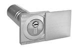 Kleiner Schlüsseltresor mit Abdeckung aus Edelstahl, eckig