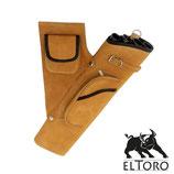 el Toro Professioneller Seitenköcher aus Wildleder