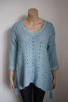 Pullover, lang, Zipfel, Grace, hellblau