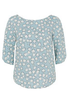 "Emily and fin, Bluse, Top, ""Mabel Top"" hellblau/beige, 3/4-Arm"