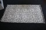 Teppich, 90 x 150 cm, Kelim-art, creme/schwarz, Baumwolle, waschbar