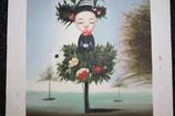 Ölbild, Blumenkind, 35 x 41 cm, Leinwand