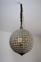 Kronleuchter, rund, Glas, Glas- und Kunststoffperlen, klar, 40 cm Durchmesser