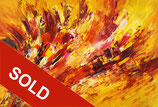 Yellow Red Abstraction XL 3 / SOLD