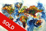 Abstract World Map XL 1  / SOLD